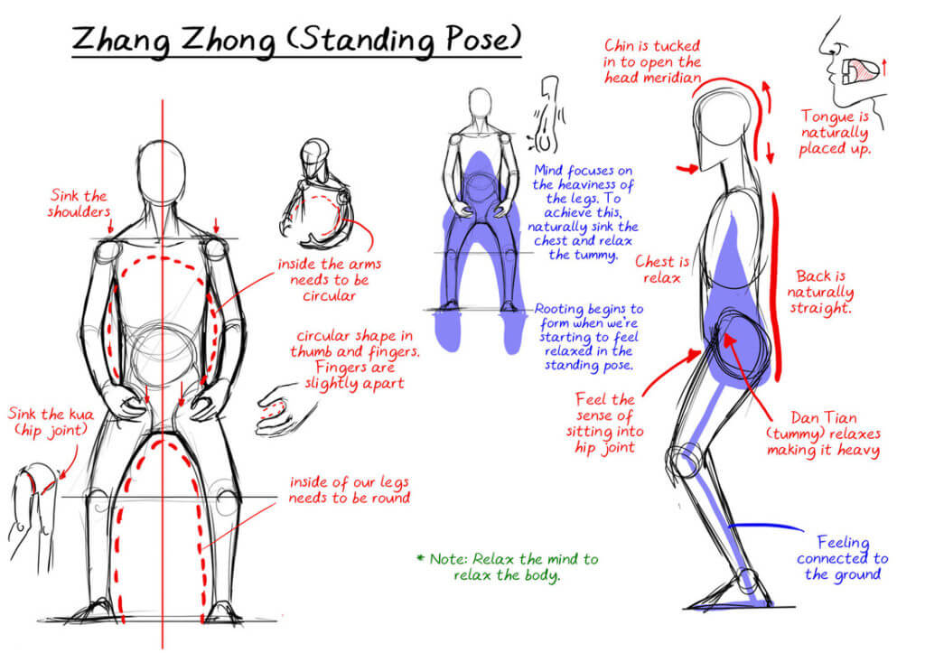 standing meditation zhan zhaung